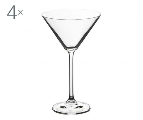 Set 4 pahare pentru cocktail Bohemia Royal Natalia Crystalite 280 ml