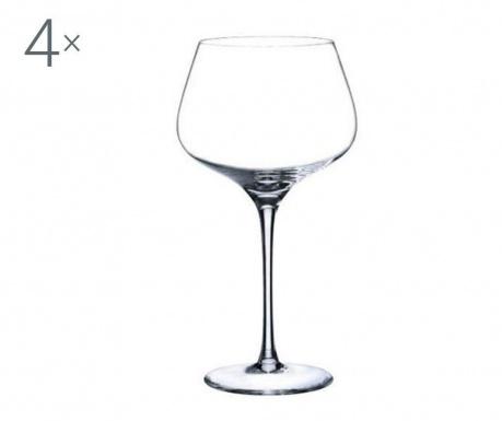 Set 4 pahare pentru vin Rona Charisma Crystalite 720 ml