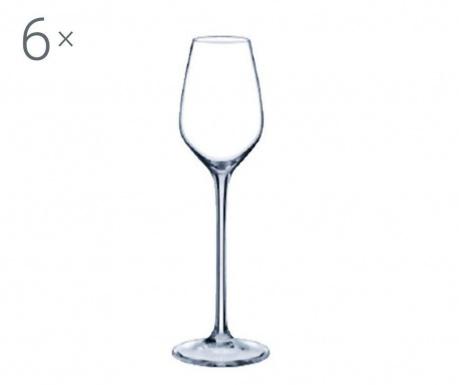 Set 6 pahare cu picior Rona Prestige Crystalite 95 ml