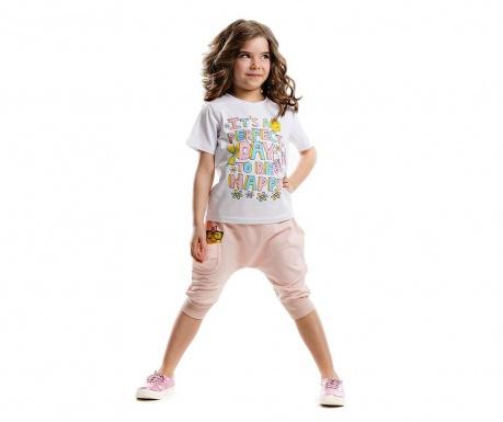 Set tricou si pantaloni trei sferturi pentru copii Hip Hop