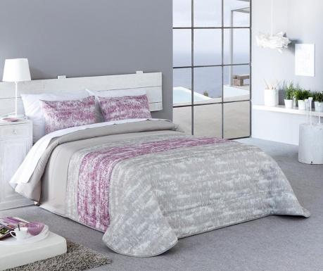 Set s prešitim posteljnim pregrinjalom King Sibela Pink