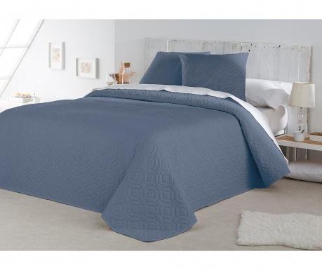 Set s prešitim posteljnim pregrinjalom King Lenon Blue