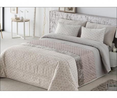 Set s prešitim posteljnim pregrinjalom Single Karina Pink