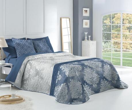 Set s prešitim posteljnim pregrinjalom King Elena Blue