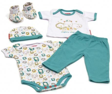 5-delni komplet za dojenčka Nighty Night 0-6 luni