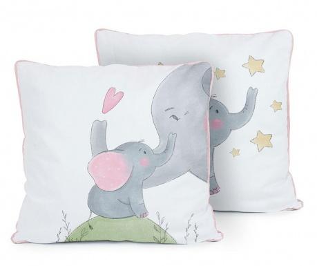 Perna decorativa Love Elephants 50x50 cm