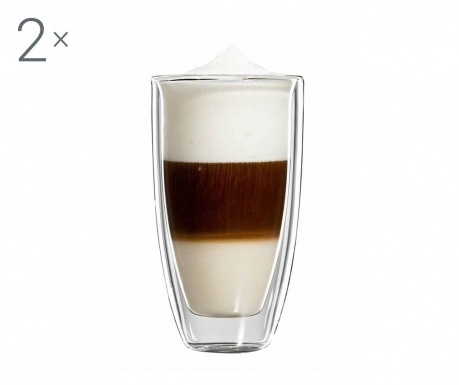 Roma Twin 2 db Latte macchiato  pohár 350 ml
