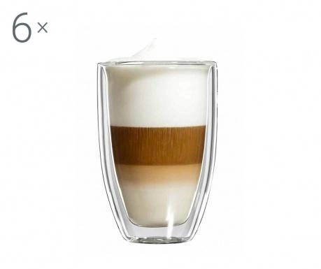 Large Barrel 6 db Latte macchiato pohár 340 ml