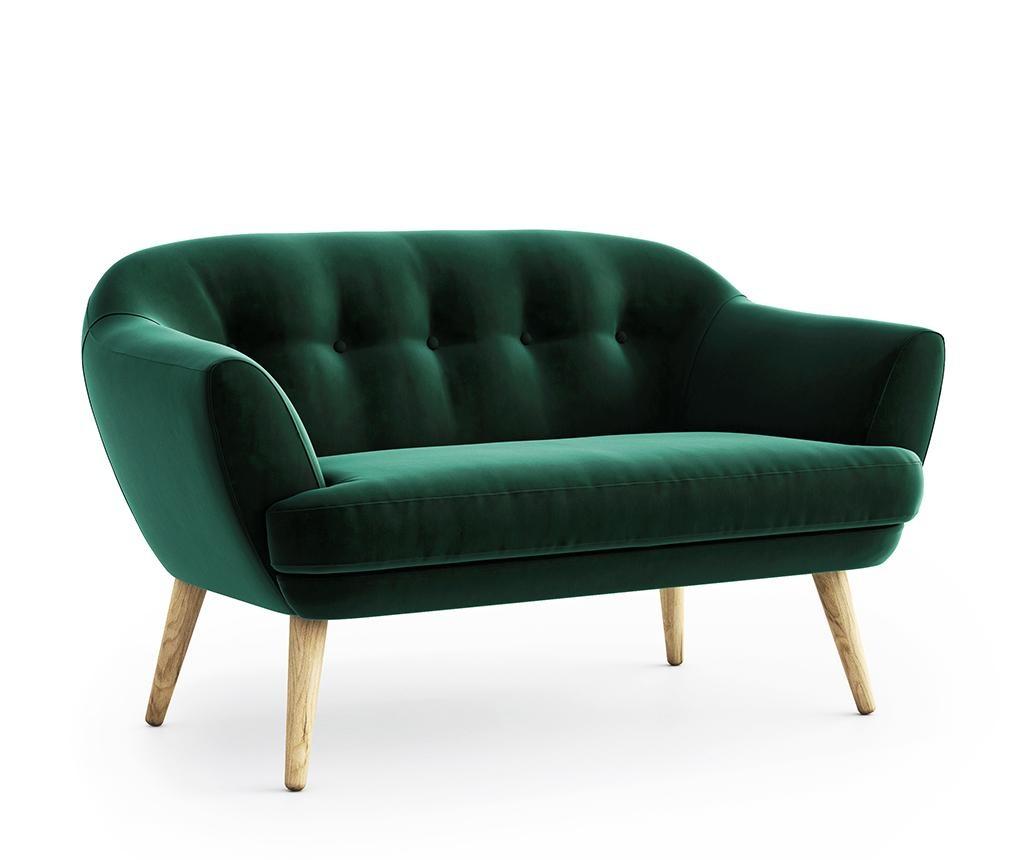 Canapea 2 locuri Elsa Riviera Dark Green