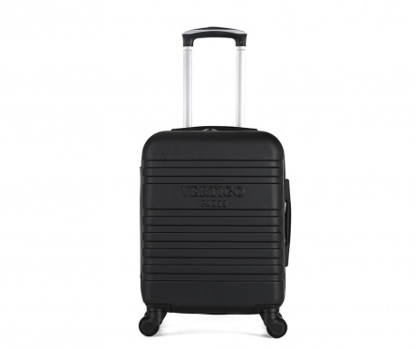 Dubai Black Gurulós bőrönd 34 L