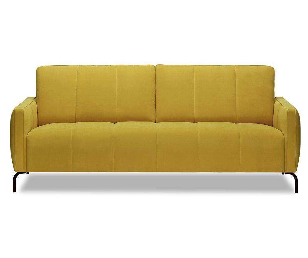Canapea 3 locuri Xeen Cosmic Yellow