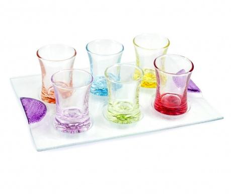 Set 6 čaša i držač Freya Colors