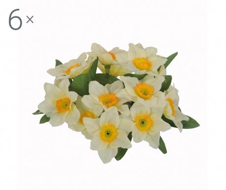 Set 6 umjetnih cvjetova Candela Narcisi Yellow