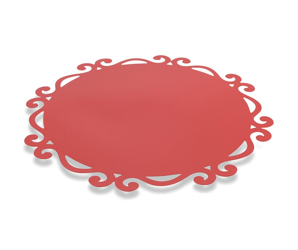 Dorian Round Red 6 db Tányéralátét 44 cm