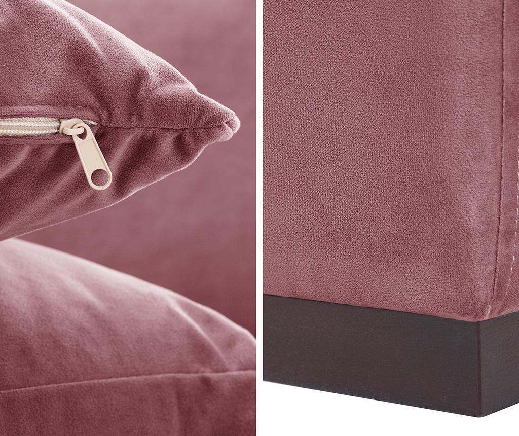 Canapea 2 locuri Taffetas Dark Pink
