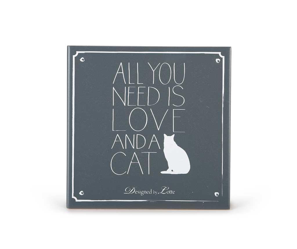 Decoratiune de perete Love And A Cat