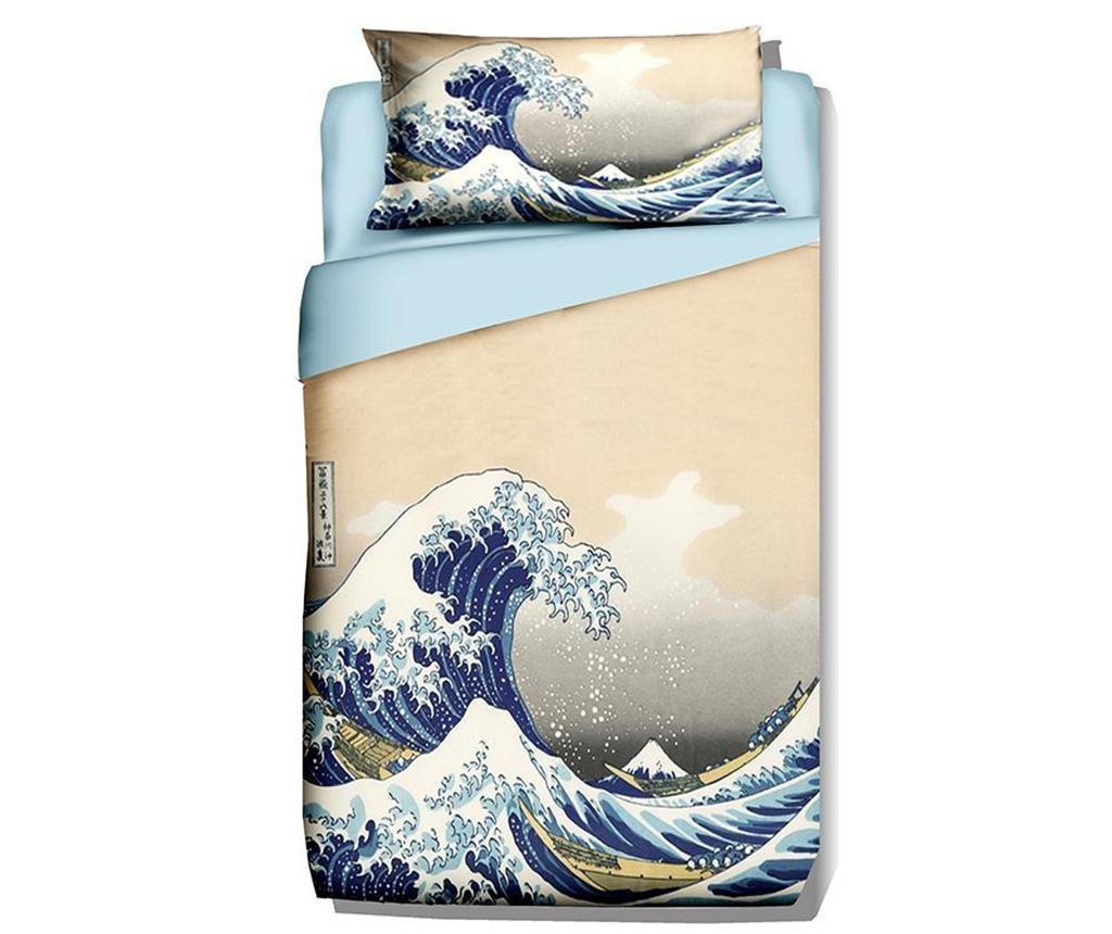 Posteljnina Single Ranforce Hokusai The Great Wave