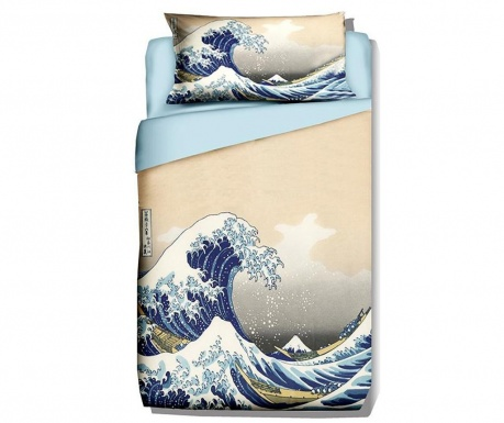 Posteljnina Single Ranforce Hokusai The Great Wave