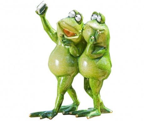 Decoratiune de gradina Two Selfie Frogs