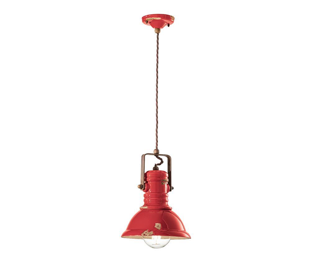 Lustra Industrial Pendant Slim Red - 7970