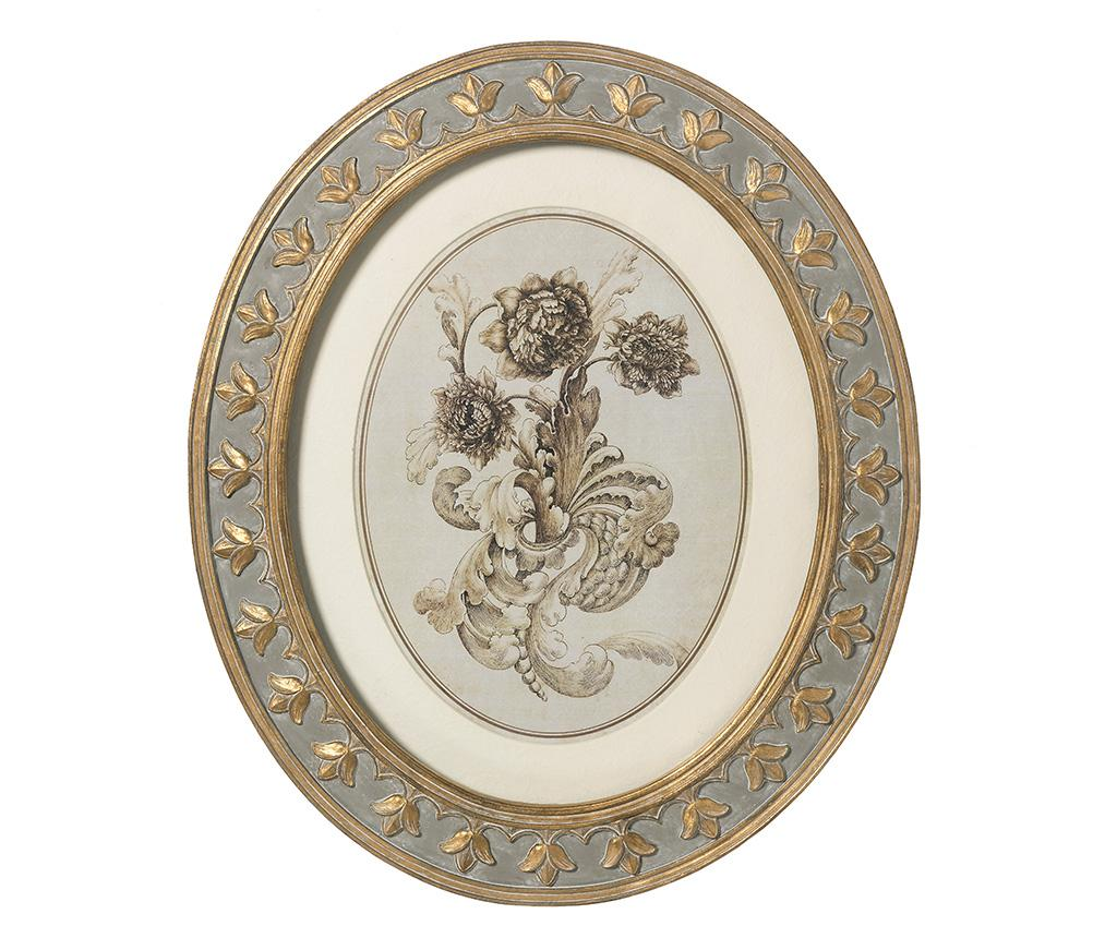 Set 2 tablouri Vintage Flora - L'arte di Nacchi, Galben & Auriu