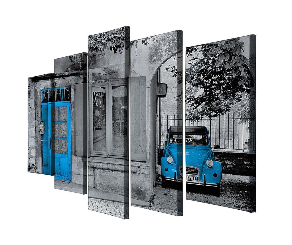 Set 5 tablouri City And Car