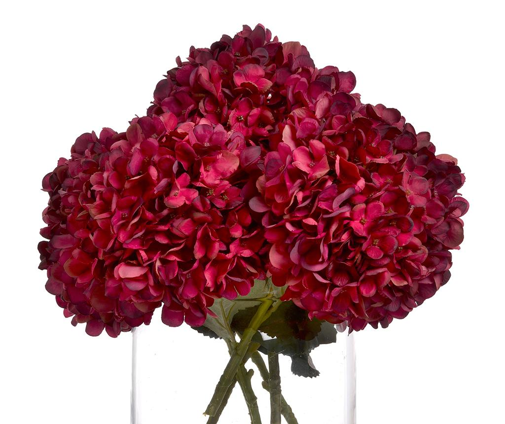 Floare artificiala Ruby Hydrangea - Hill Interiors, Rosu