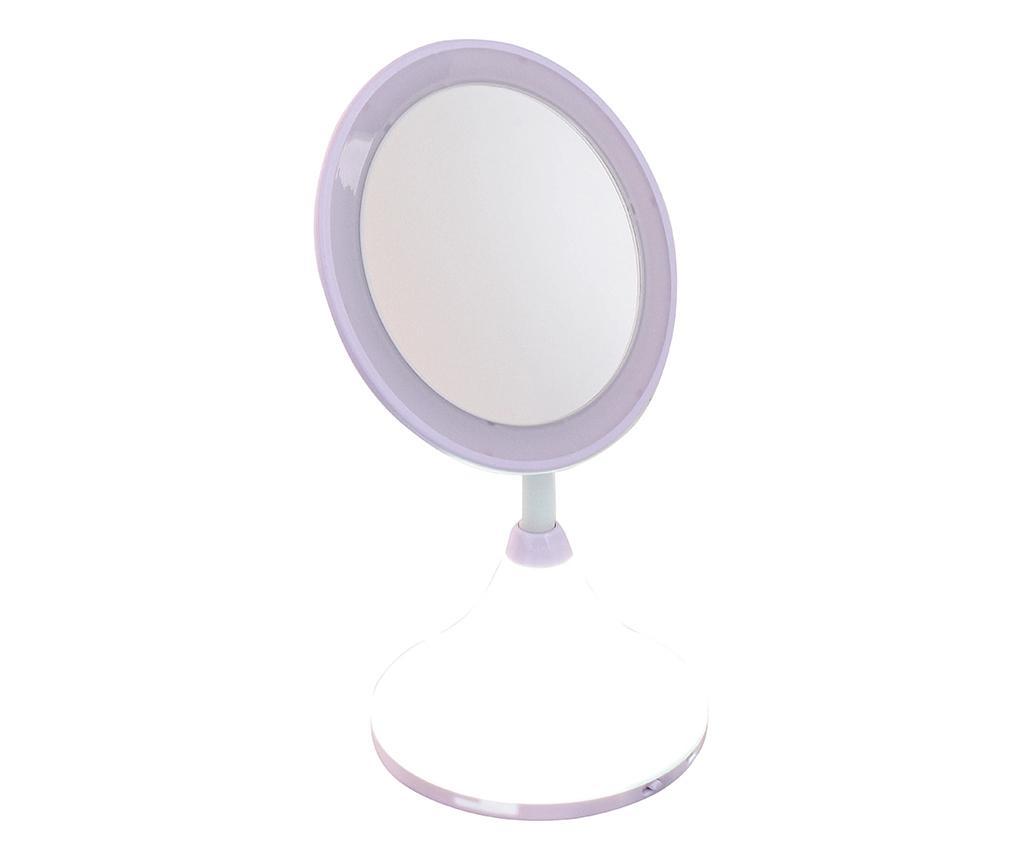 Oglinda cosmetica cu LED si USB Pretty Tonight - DomoClip, Gri & Argintiu