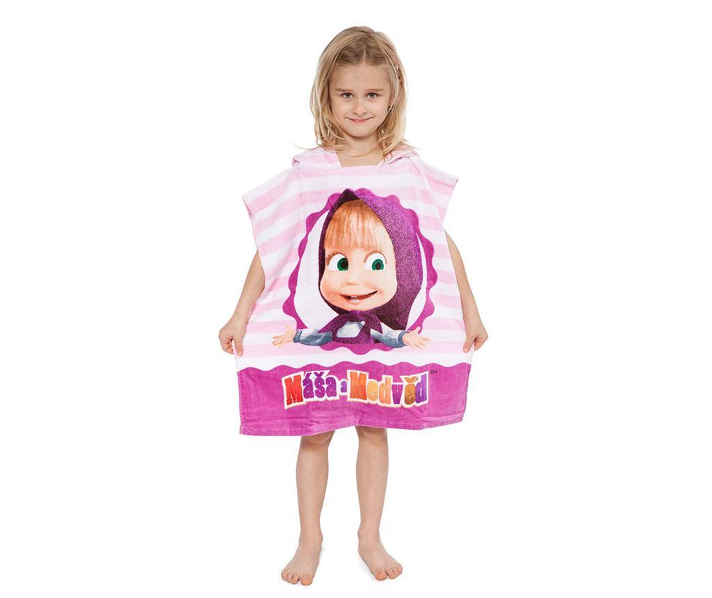 Prosop poncho copii Masha and The Bear Pink