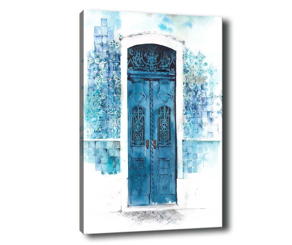 Tablou Door 100x140 cm - Tablo Center, Albastru