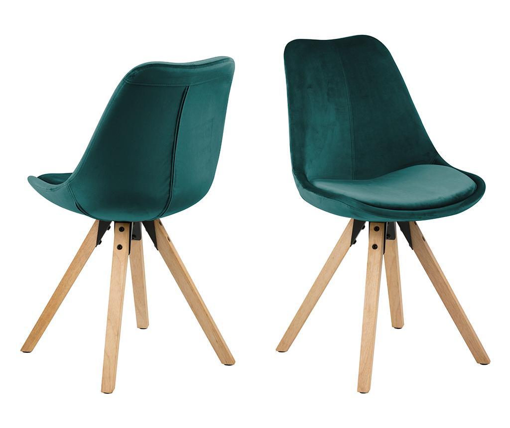 Set 2 scaune Dima Soft Bottle Green - actona, Verde
