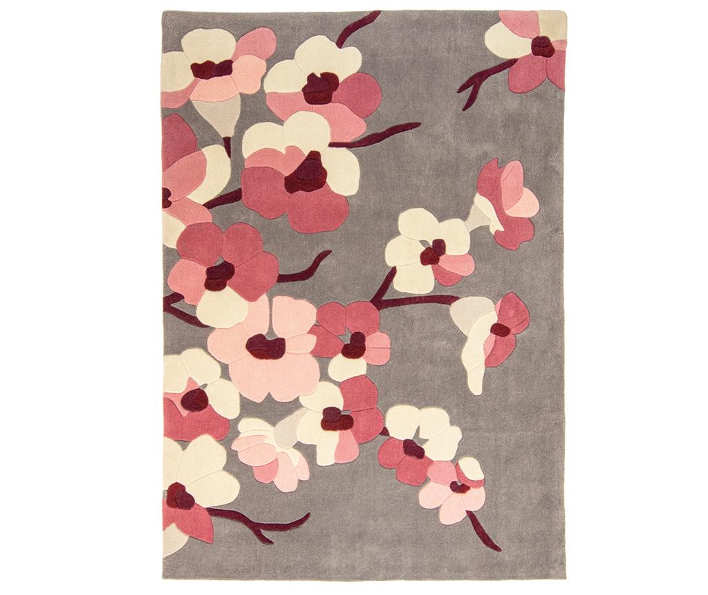 Covor Blossom Charcoal Pink Gri Argintiu Roz