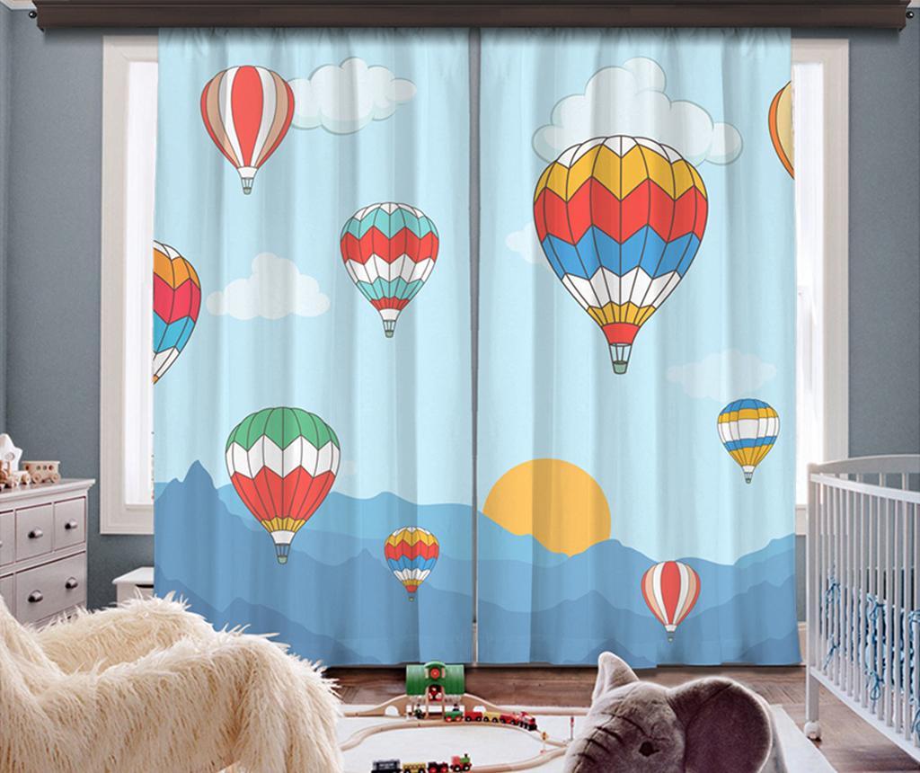 Set 2 draperii Air Baloon 140x260 cm - Cipcici, Multicolor de la Cipcici