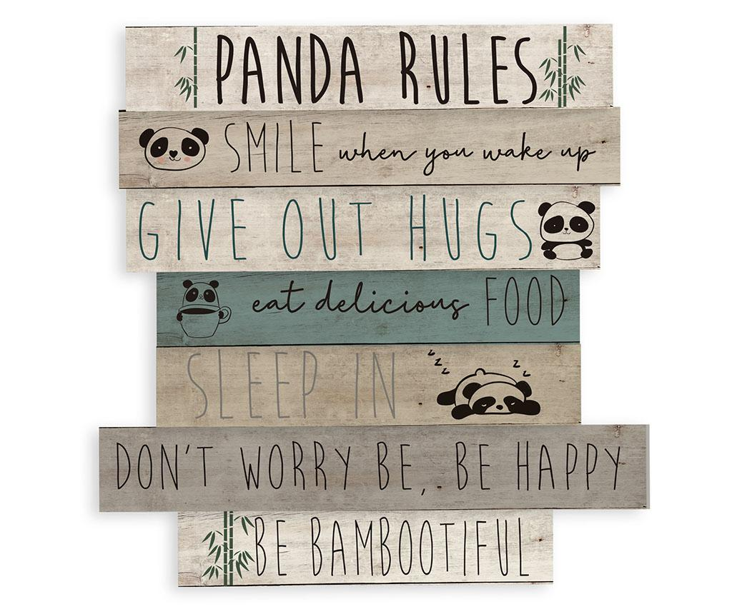 Decoratiune de perete Panda Rules - Little Nice Things, Crem