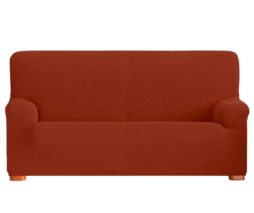 Husa elastica pentru canapea Dorian Dark Orange 180-210 cm - Eysa, Portocaliu