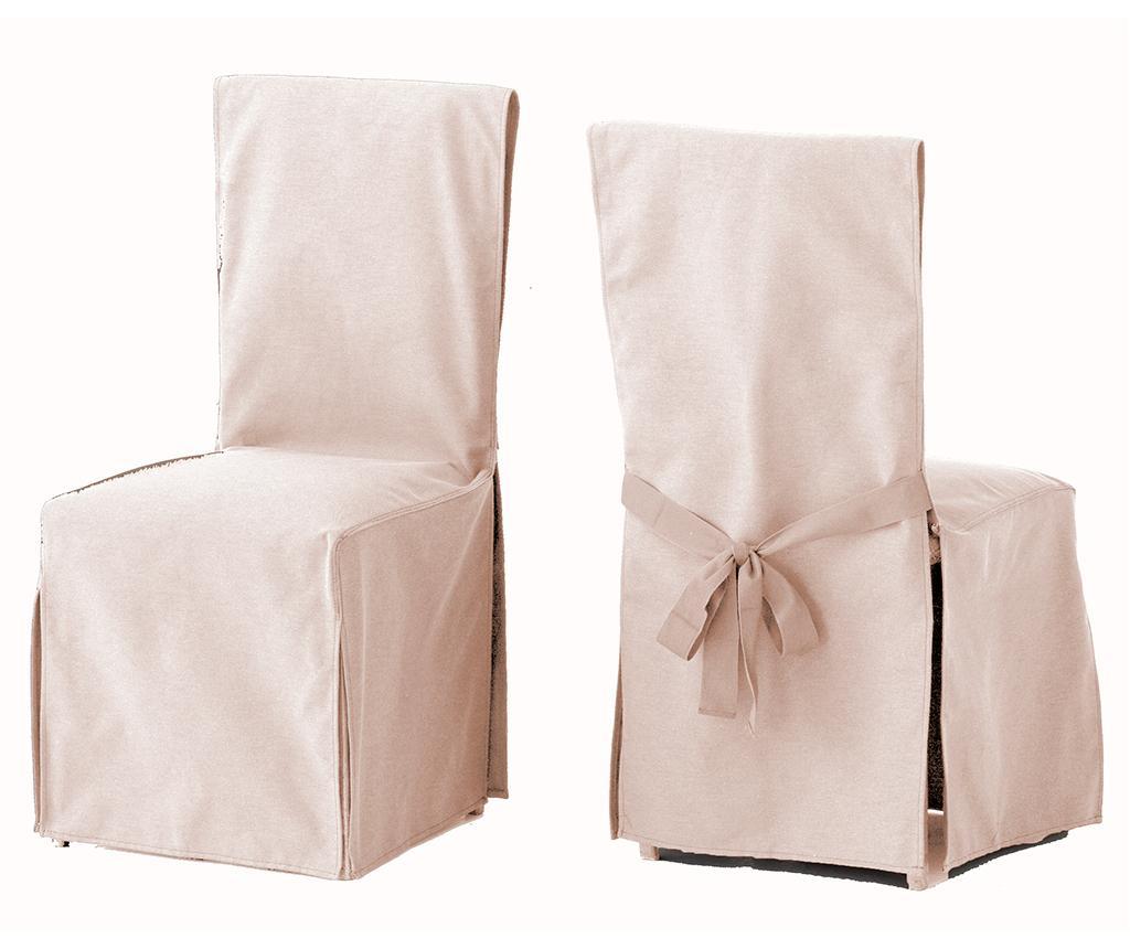 Set 2 huse pentru scaun Lona Liso Linen - Eysa, Crem