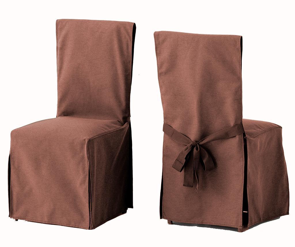 Set 2 huse pentru scaun Lona Liso Brown - Eysa, Maro