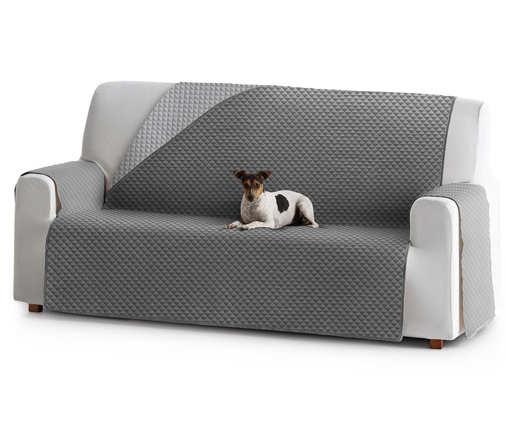 Husa matlasata pentru canapea Oslo Reverse Dark & Light Grey 150 cm - Eysa, Gri & Argintiu