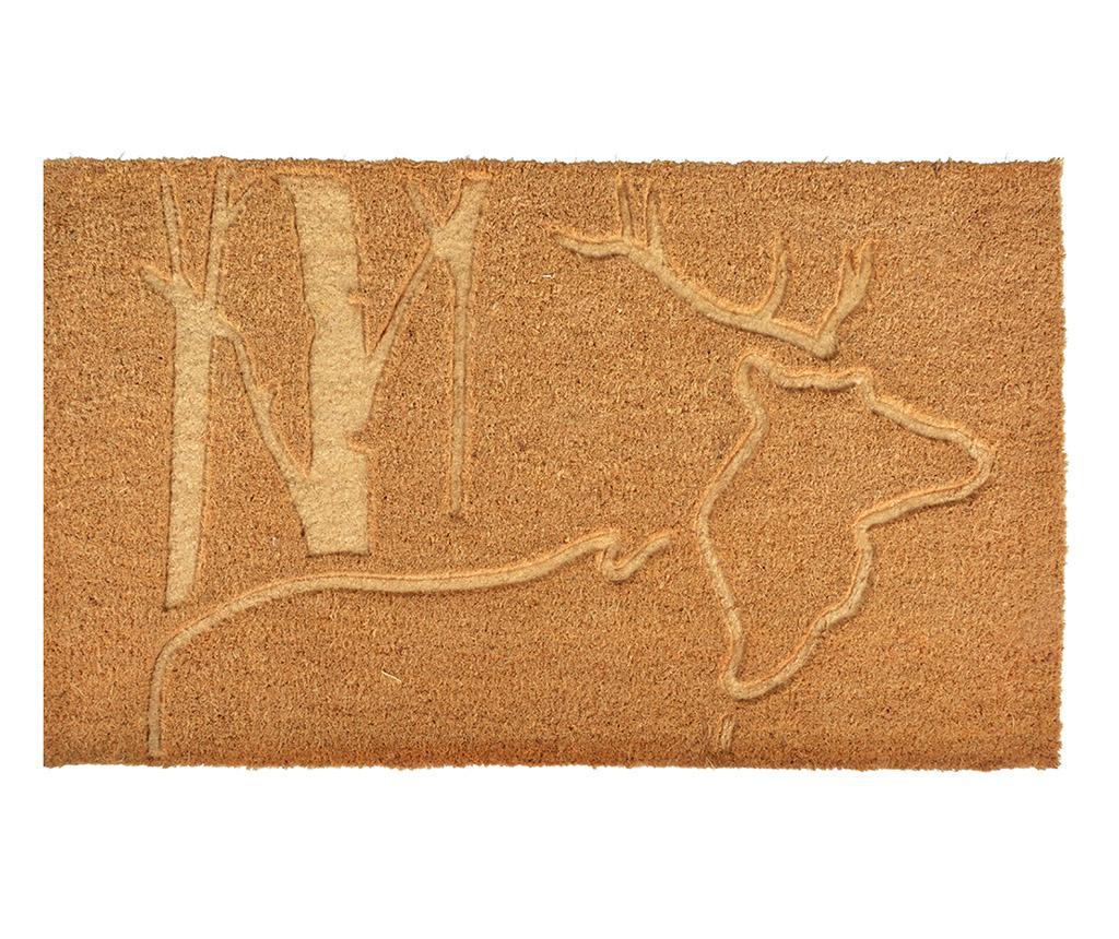 Covoras de intrare Relierf Deer 45x75 cm - Esschert Design, Crem