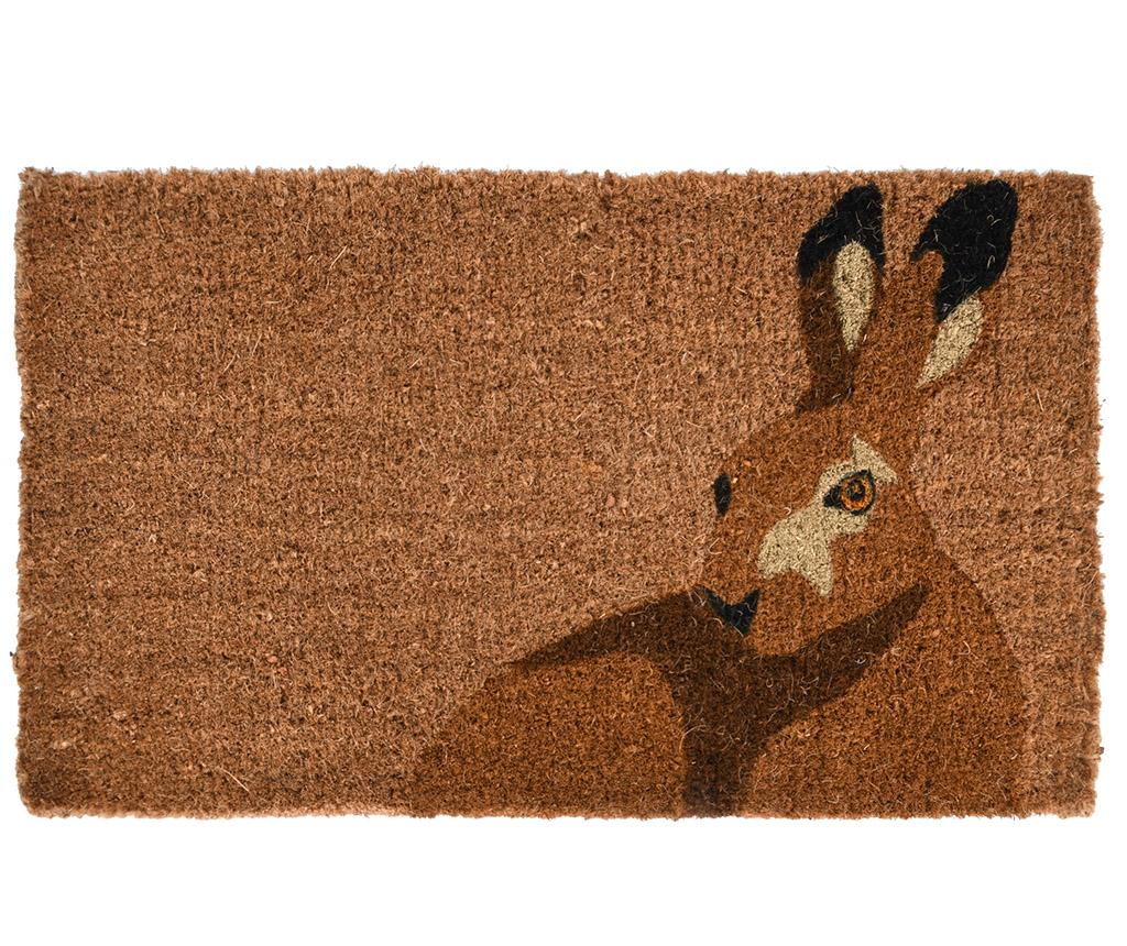 Covoras de intrare Rabbit 45x75 cm - Esschert Design, Maro
