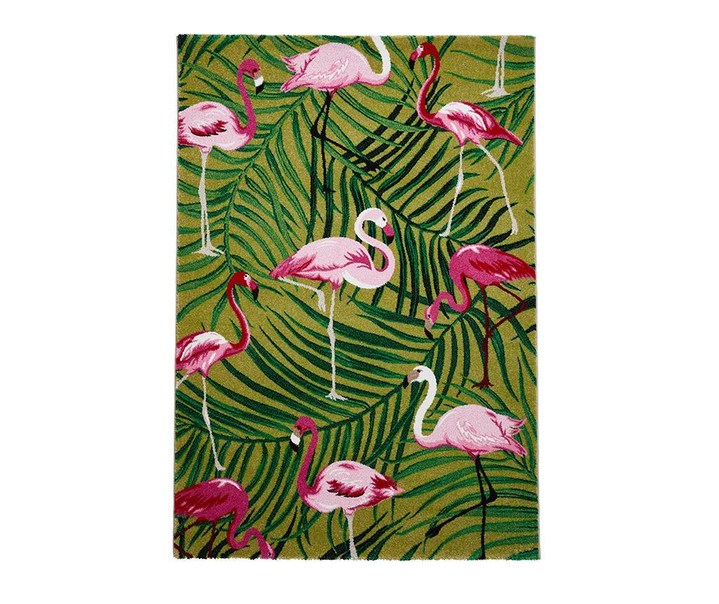 Covor Havana Green & Pink 160x220 cm - Think Rugs