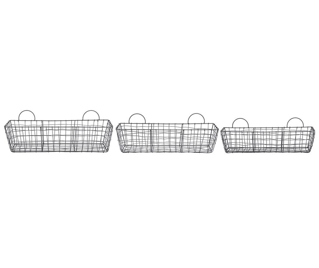 Set 3 cosuri Wire - Esschert Design, Negru