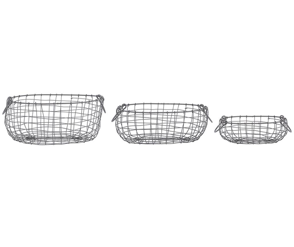 Set 3 cosuri Ima - Esschert Design, Negru de la Esschert Design