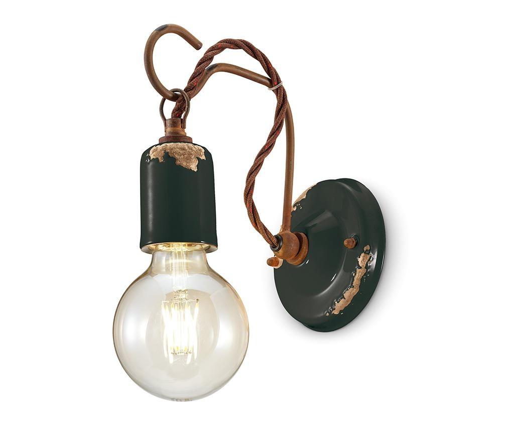 Zidna svjetiljka Vintage Rope Black