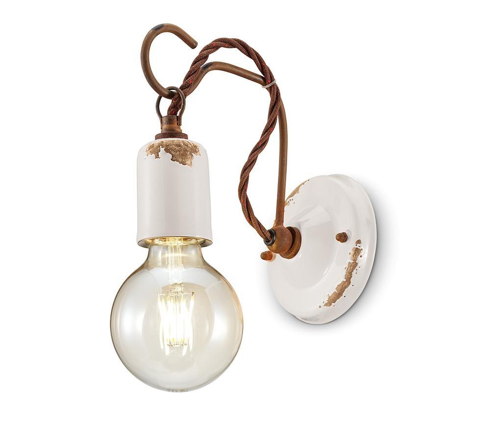 Zidna svjetiljka Vintage Rope White