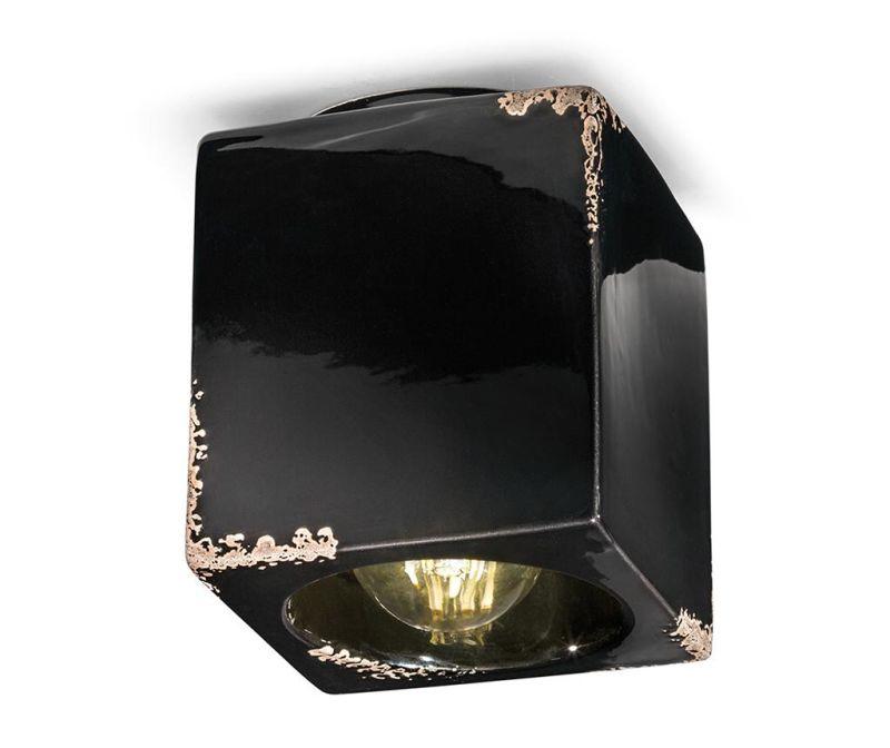 Stropna svetilka Vintage Cubo Black