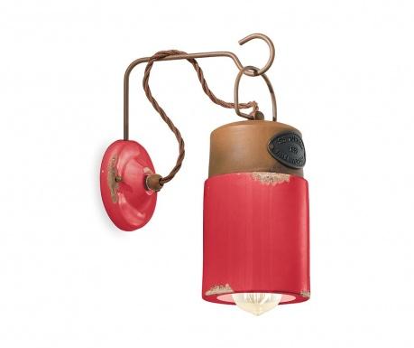 Industrial Lantern Red Fali lámpa