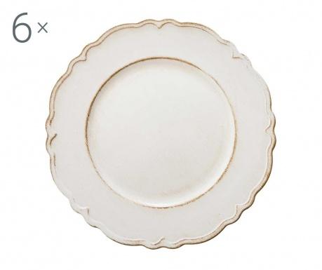 Комплект 6 плата Antique Simple White