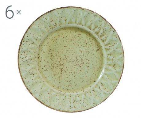 Sada 6 mělkých talířů Dalia Green