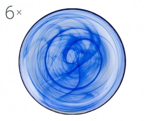 Set 6 dubokih tanjura Alabastro Blue
